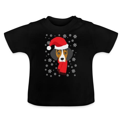 Perrito beagle vestido de Papá Noel - Camiseta bebé