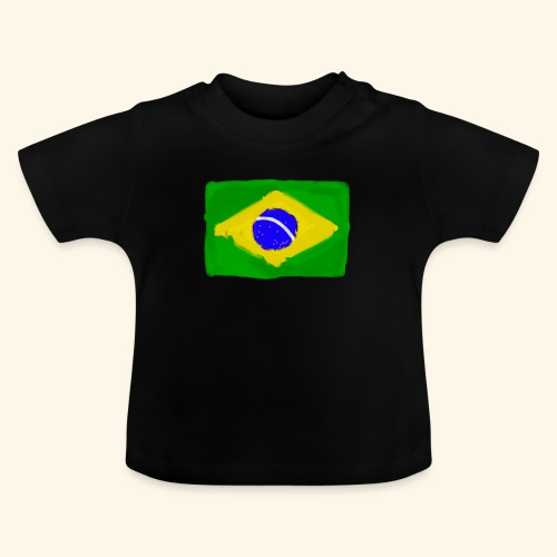 Brazilian flag InWatercolours - Baby-T-shirt