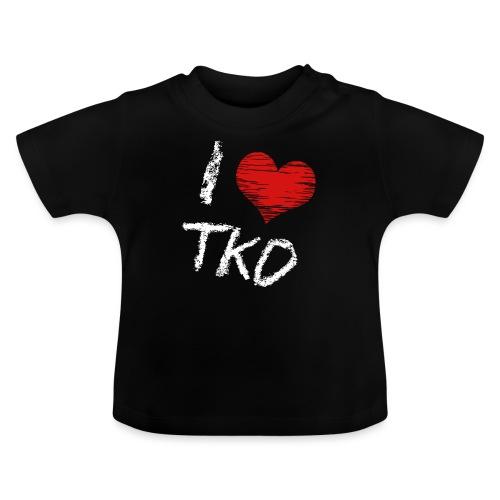 I love tkd letras blancas - Camiseta bebé