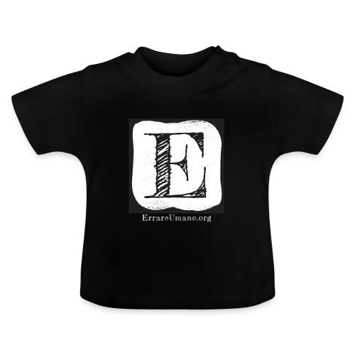 Logo ErrareUmano con scritta bianca - Maglietta per neonato