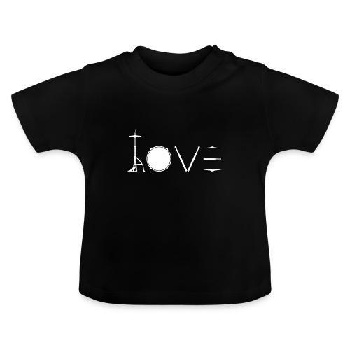 Drums Heartbeat Funny drummer - Vauvan t-paita