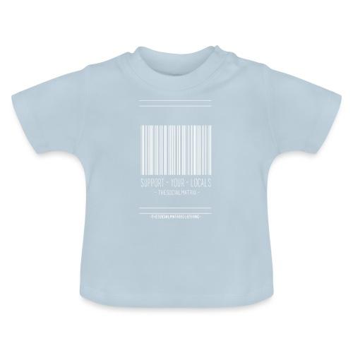 STEUN JE PLAATSELIJKE [WIT] - Baby T-shirt