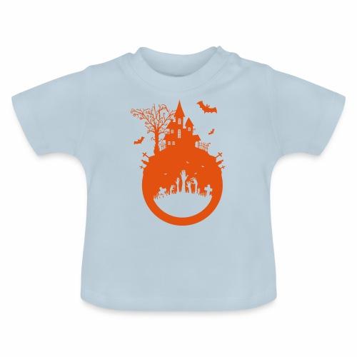 Halloween Design - Das Spukhaus - Baby T-Shirt