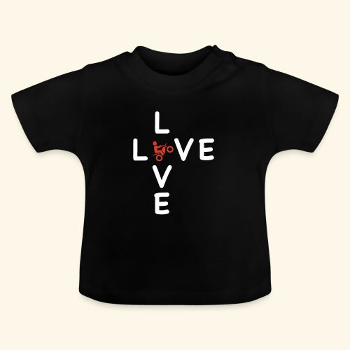 LOVE Cross white wheely red 001 - Baby T-Shirt