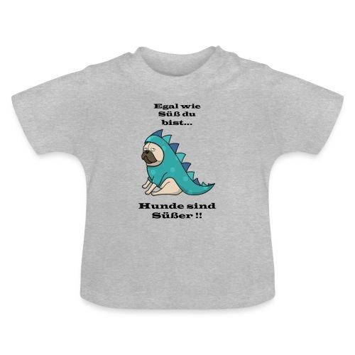 hund schwarz - Baby T-Shirt