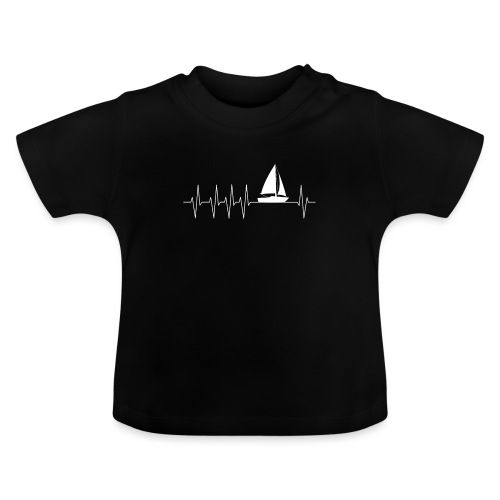 Skipper Kapitän Herzschlagkurve EKG Segeln Segler - Baby T-Shirt
