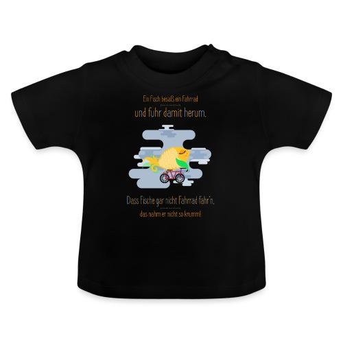 Der Fahrrad-Fisch - Baby T-Shirt