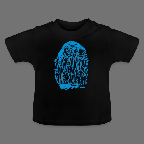 Fingerprint DNA (blue) - Baby T-Shirt