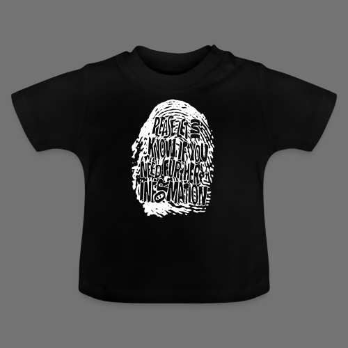 Fingerprint DNA (white) - Baby T-Shirt