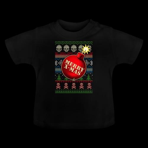 Merry X-Mas Christbaumkugel-Bombe - Baby T-Shirt