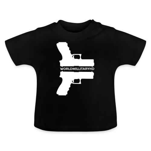 WorldMilitaryHD glock design (white) - Baby T-shirt