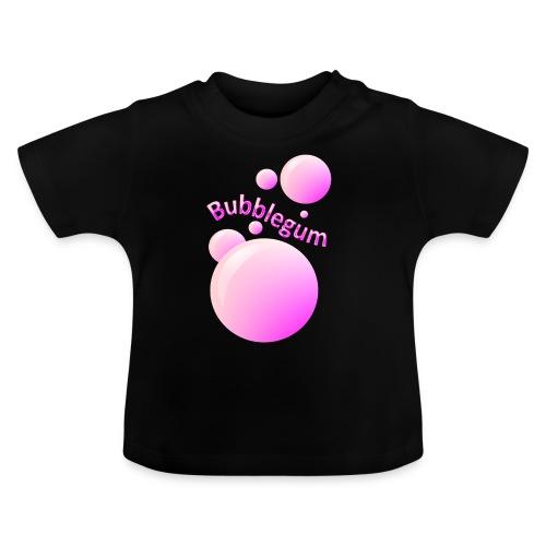 bubblegum glansig text och stora rosa bubblor - Baby T-Shirt