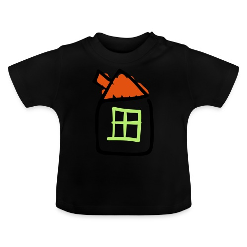 House Line Drawing Pixellamb - Baby T-Shirt