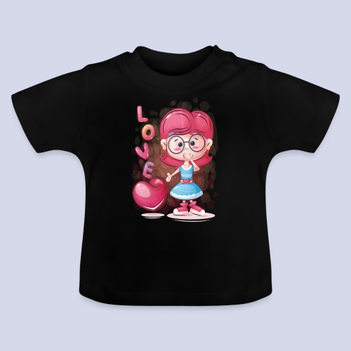 Funny and lovely girl cartoon design - Baby T-Shirt