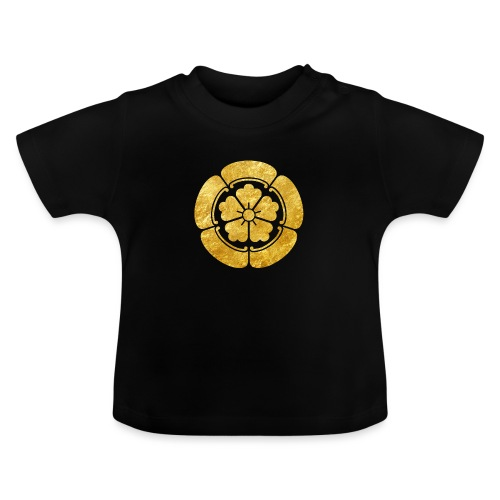 Oda Mon Japanese samurai clan faux gold on black - Baby T-Shirt