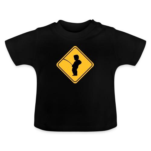 Manneken Pis sign - T-shirt Bébé