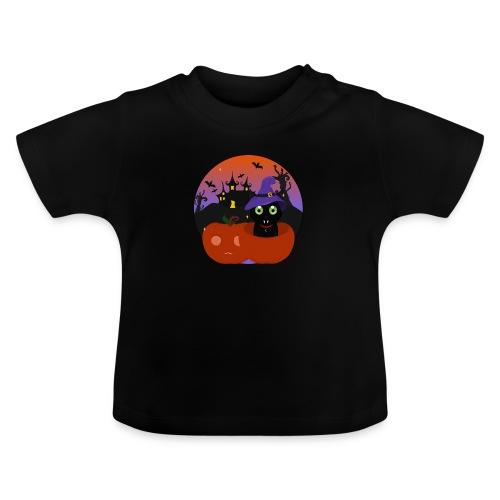 Halloween & the cat - T-shirt Bébé