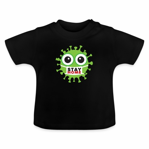 Stay at home, zostań w domu - Koszulka niemowlęca