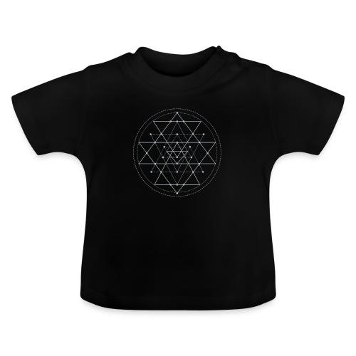 Harmaa geometrinen Shri Yantra -kuvio - Vauvan t-paita