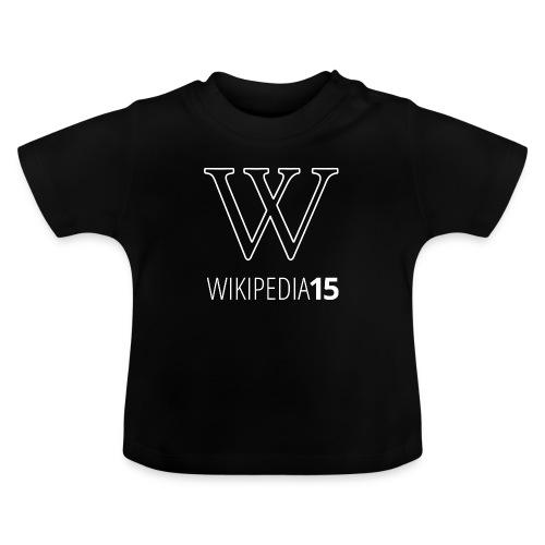 W, rak, svart - Baby-T-shirt