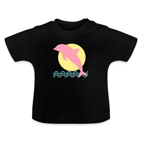 Delfín y sol - Camiseta bebé