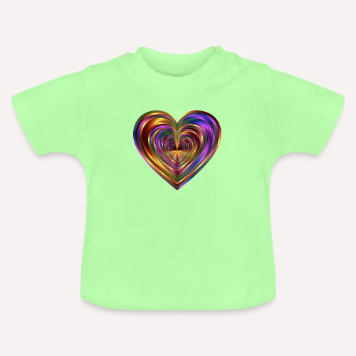 Colorful Love Heart Print T-shirts And Apparel - Baby T-Shirt