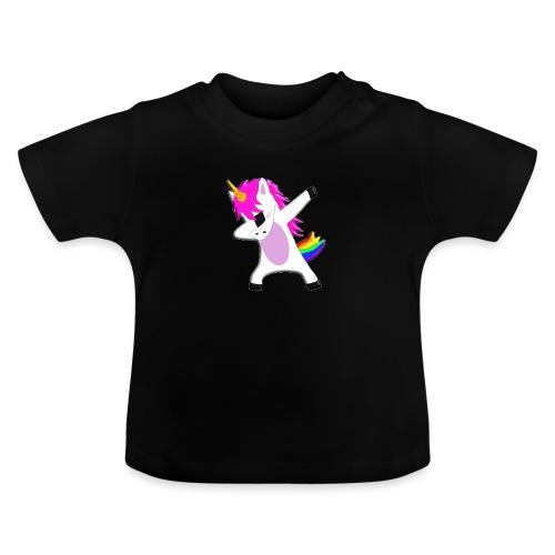 The Dabbing Unicorn - tanzendes Einhorn - Baby T-Shirt