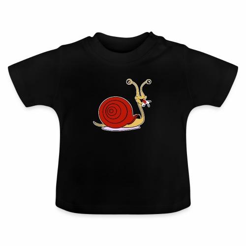 Escargot rigolo red version - T-shirt Bébé