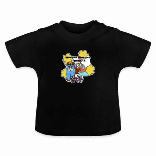 Une merveilleuse licorne est née (pour garcon) - T-shirt Bébé