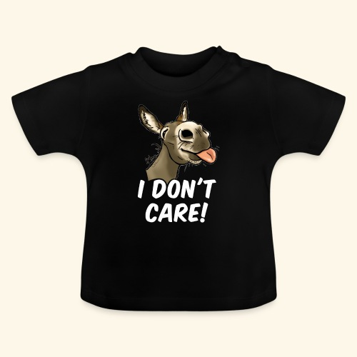 Ane I don't care! (texte blanc) - T-shirt Bébé