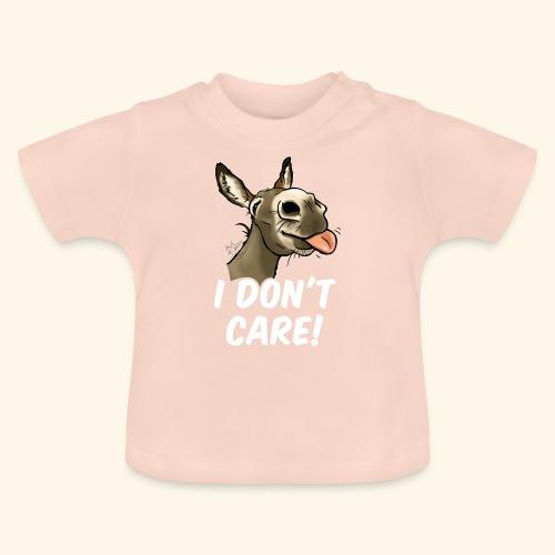 Ane I don't care! (texte blanc) - T-shirt Bébé