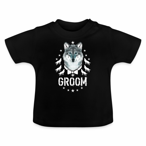 161 Wolf JGA GROOM Wolfpack Sterne - Baby T-Shirt