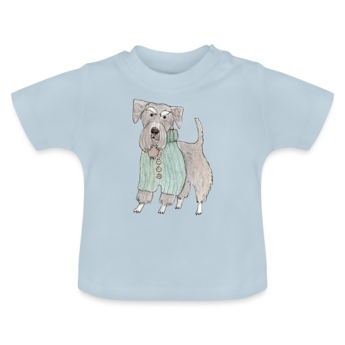 schnauzer with sweater - Baby T-shirt