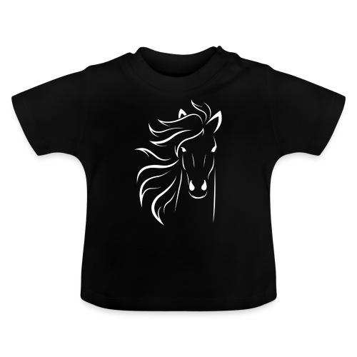 pferd silhouette - Baby T-Shirt