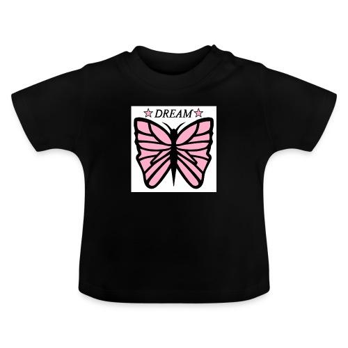 Fjäril, Dream rosa vit svart - Baby-T-shirt