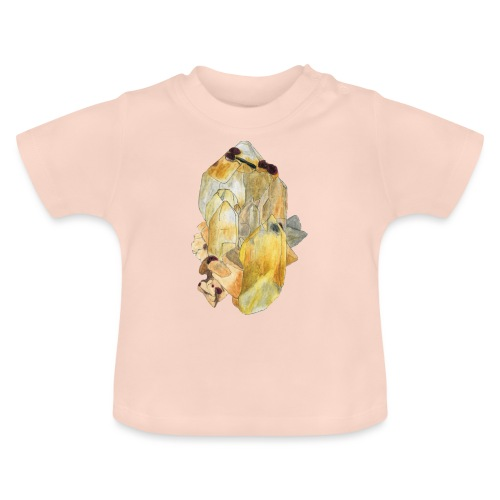 Bergkristall mit Granat - Baby T-Shirt