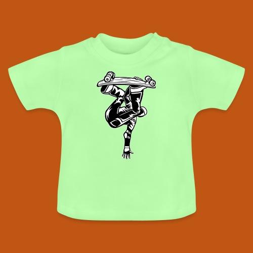 Skater / Skateboarder 03_schwarz weiß - Baby T-Shirt