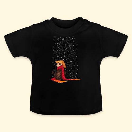 Un singe en hiver sous la neige - T-shirt Bébé
