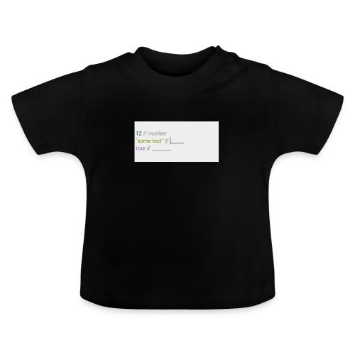 code - T-shirt Bébé