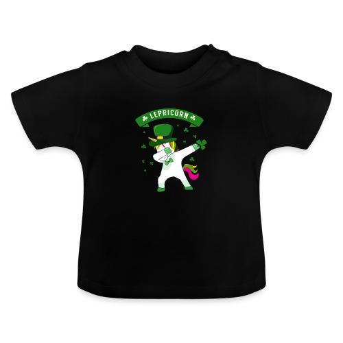 Lepricorn - St. patricks Day Unicorn dab pose - Baby T-Shirt