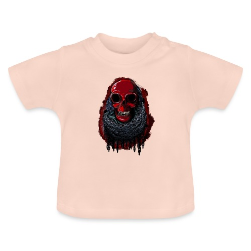 Red Skull in Chains - Baby T-Shirt