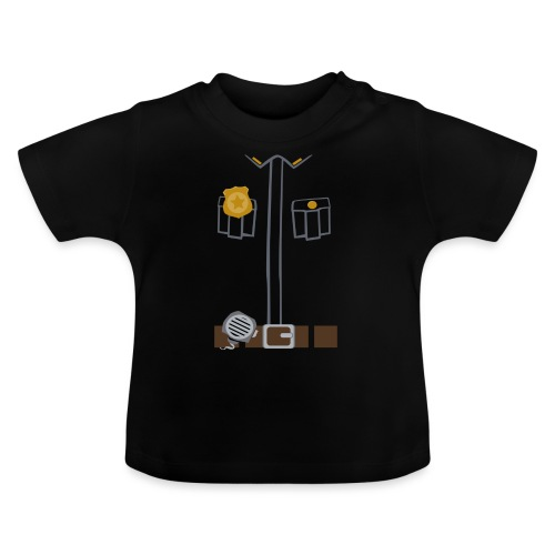 Police Costume Black - Baby T-Shirt
