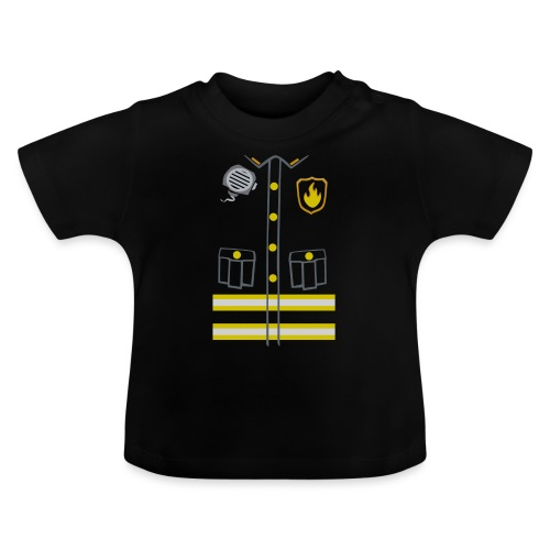 Fireman Costume - Dark edition - Baby T-Shirt