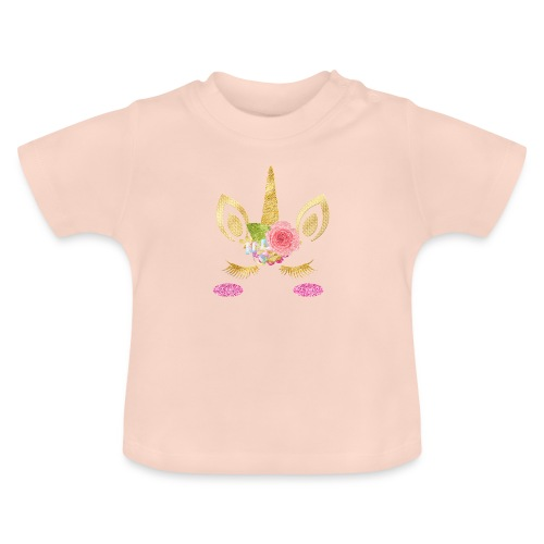 unicorn face - Baby T-Shirt
