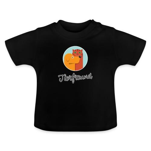 Tierfreund mit Schriftzug - Baby T-Shirt