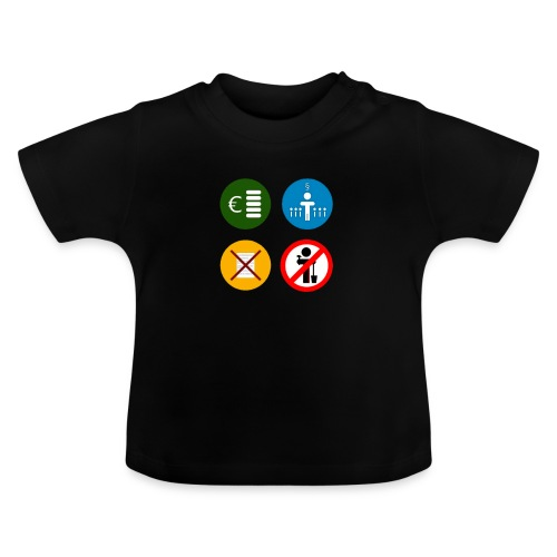 4kriteria ubi vierkant trans - Baby T-shirt