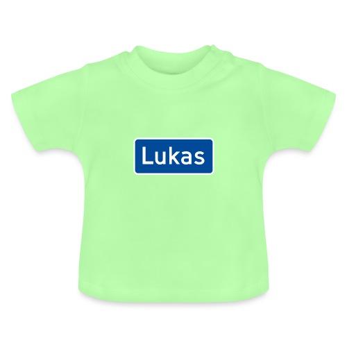 Lukas veiskilt (fra Det norske plagg) - Baby-T-skjorte