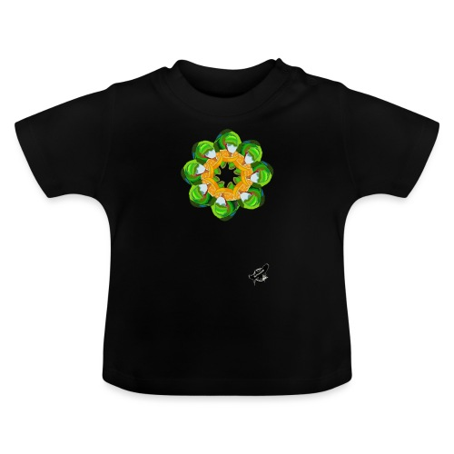 Parrot Pattern by BlackenedMoonArts, w. logo - Baby T-shirt