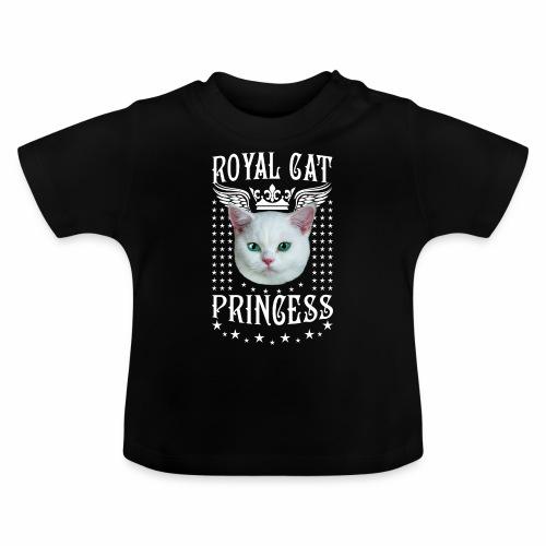 26 Royal Cat Princess white feine weiße Katze - Baby T-Shirt