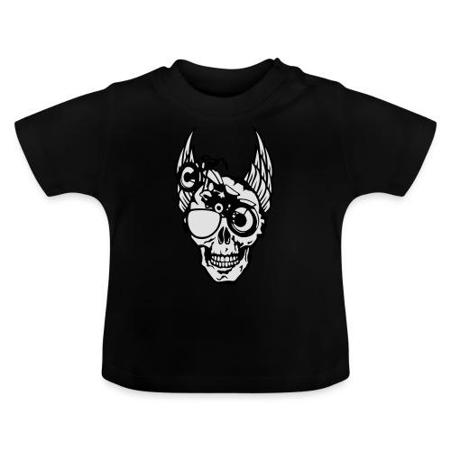 tete mort moto skull aile motard oeil - T-shirt Bébé